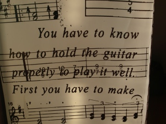 You have to know how to hold the guitar